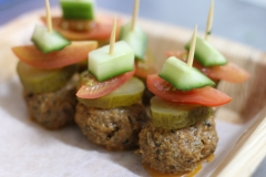 Mini meatballs skewers